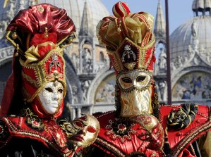 Masks worn at the Carnival