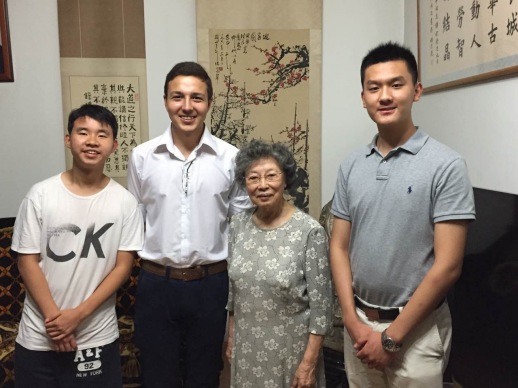 AIR Staff Visiting Mrs. He Li Liang in Beijing